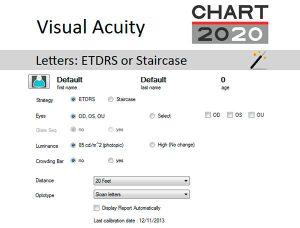 ETDRS Test Settings
